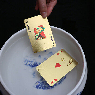 Fashion Appealing High Grade Silver Gold Foil Poker Playing Cards Waterproof GT