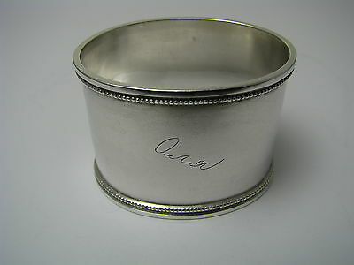 """IMPERIAL RUSSIAN SILVER NAPKIN RING HOLDER """"Olya"""" 84Silver ГН St.Petersburg 1891"""