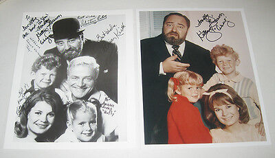 1966 CBS TV Show Family Affair 2 Signed Autograph Pictures Cissy Kathy Garver