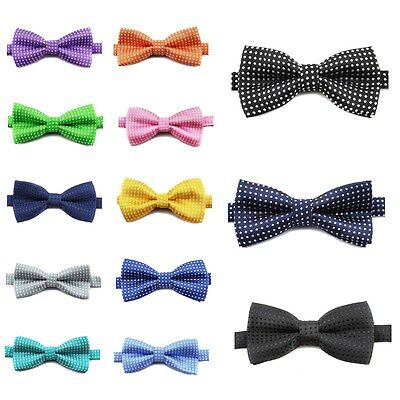 New Kids Formal Butterfly Dot Print Bow Tie Wedding&Party Solid Boys&Girl Bowtie