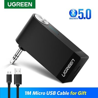UGREEN V4.1 Wireless Bluetooth Receiver 3.5mm AUX Audio Music Car Adapter + Mic