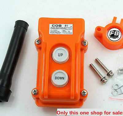 Crane Pendant Control Pushbutton Switch Hoist Station Up-Down Rainproof Button 2
