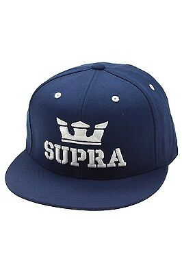Supra Above Snapback Cap (navy/white)