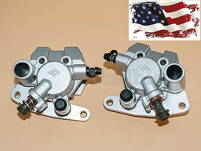 New Front Brake Caliper Set For Yamaha Grizzly 660 2002-2008 Yfm660 With Pads
