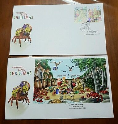 2012 Christmas Island Christmas Mini Sheet FDC and FDC