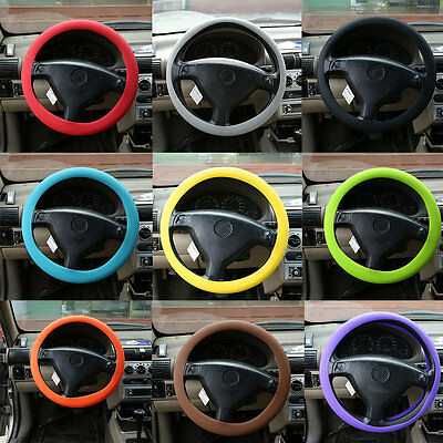 Fashional Decoration New Soft Silicone Steering Wheel Cover Shell Skidproof IB