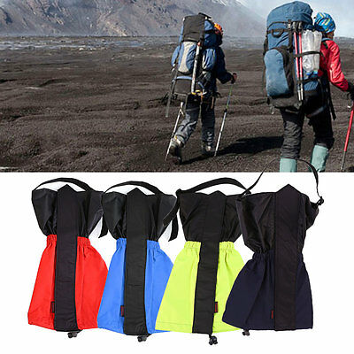 1 Pair of Waterproof Windproof Hiking Walking Snow Legging Gaiters Travel Kit IB