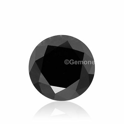0.10 Ct natural loose black diamond 3.00 mm round brilliant cut best for jewelry