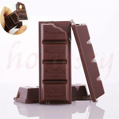 Chocolate Shaped Windproof Refillable Butane Gas Cigar Cigarette Flame lighter