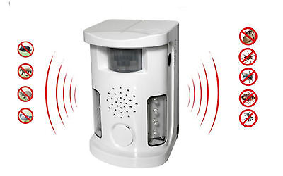 Ultrasonic electronic multi function dog cat bird rodent pest repeller deterrent