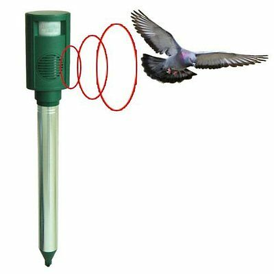 High Powered Ultrasonic Dog Cat Bird Rodent Fox Pigeon Seagull Heron Repeller