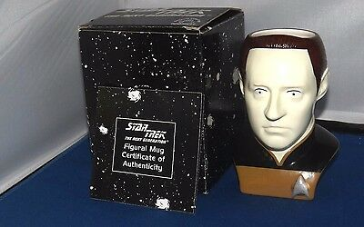 Star Trek Figural Mug Of Data Ltd Edition Boxed with coa.