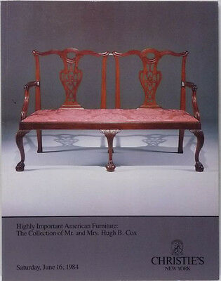 Antique American Furniture & Americana Antiques Cox Collection - Christie's 1984