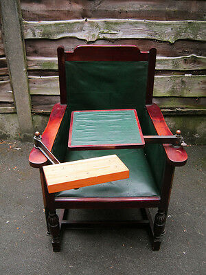 *Vintage Optician's Chair* - antique optical medical equipment.Prop for film/ tv