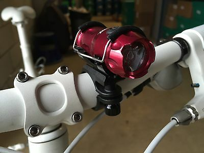 Ultra Bright USB Rechargeable Bicycle Light Tavic 3W LED Bike Torch with Mount!