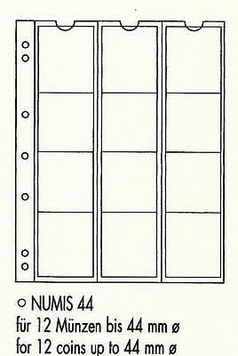 LIGHTHOUSE NUMIS 12 Pocket COIN PAGES Pack of 5  Code NUMIS 44