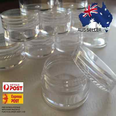 10X 5g Clear Lip Balm Small Screw Top Sample Cosmetic Jars Container OZ Seller