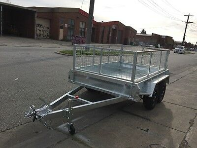 8X5 Fully Weld Galvanized  Tandem Trailer