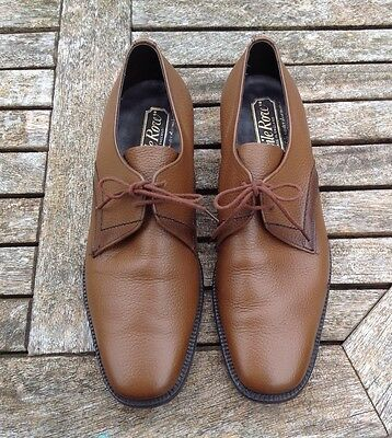 MEN'S VINTAGE SAVILE ROW BROWN LEATHER LACE UP SHOES Size 8.5 Made In England