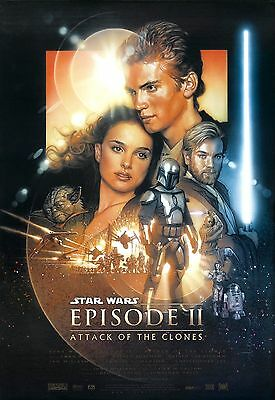 Star Wars Attack Of The Clones Laminated A4  Mini Poster