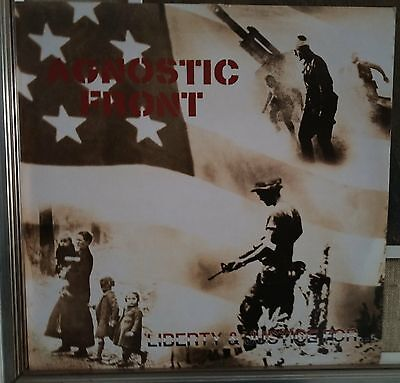 Agnostic Front Liberty & Justice For... Lp Uk Issue EX 1987 Rough Justice – JUS