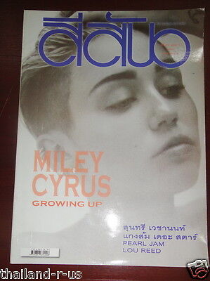 Miley Cyrus THAILAND Music  Magazine 2013 Pearl Jam Lou Reed Rare!