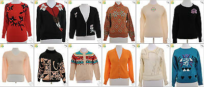 "JOB LOT OF 26 VINTAGE WOMEN""S KNITS - Mix of Era's, styles and sizes (18694)*"