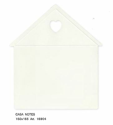 Casa Bianca per note appunti idea decorazione 105x175 mm set 20 pz art 16904