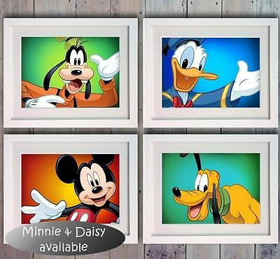 Disney Mickey Mouse Minnie Goofy Pluto Poster Picture Print Photo Wall Decor