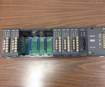 GE Fanuc  IC610CHS130A Series One Programmable Controller Rack.  Loc 91B