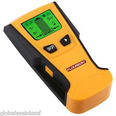 FLOUREON Multi Detector Stud Center Finder Metal AC Live Cable Wire Scanner LCD