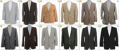 JOB LOT OF 16 VINTAGE MEN SUIT JACKETS - Mix of Era's, styles and sizes (18425)*