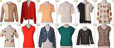 """JOB LOT OF 25 VINTAGE WOMEN""""S KNITS- Mix of Era's, styles and sizes (18049)*"""
