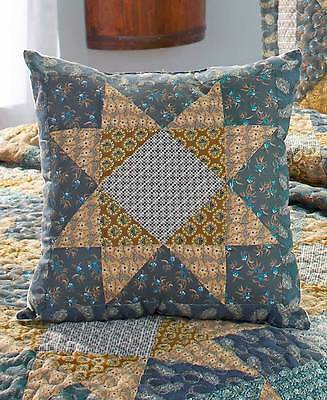 """Colonial Stars Bedroom Decorative Pillow Rustic Country Cottage Bedding 16"""" Sq"""