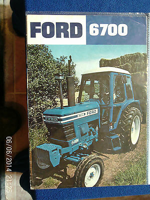 Ford 6700 Tractor Sales Brochure 1977