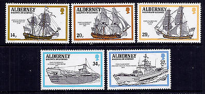Alderney 1990 Royal Navy Ships very fine fresh MNH set.