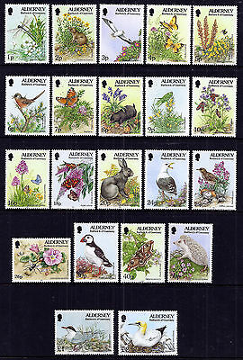 Alderney 1994/8 Flora and Fauna very fine fresh MNH set.
