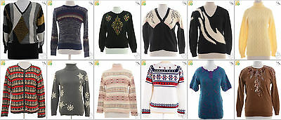 JOB LOT OF 26 VINTAGE MIXED KNITS - Mix of Era's, styles and sizes (18356)*