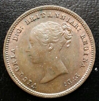 1844 Half Farthing With Lustre Victoria Copper Coins.