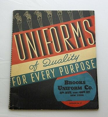 Vintage Brooks Uniform Co. 1940s Amazing Color illustrations of Military, Police