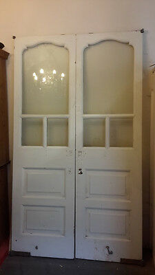 Large pair of glazed victorian entrance doors