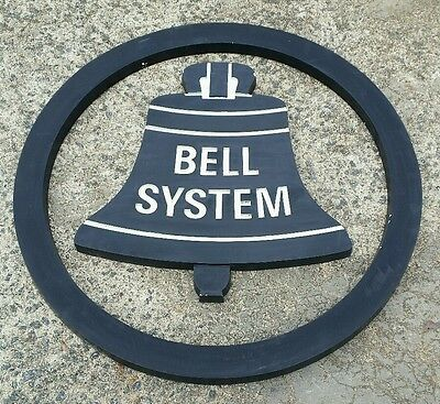 "Bell System Aluminum Building Sign-Vintage-Telephone-24""-Western Electric-Ring"