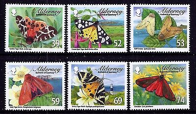 Alderney 2012 Moths and Ermines very fine fresh MNH set