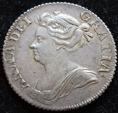 Superb 1709 Shilling. About Extremely Fine With Brilliance. Freepost Worldwide.