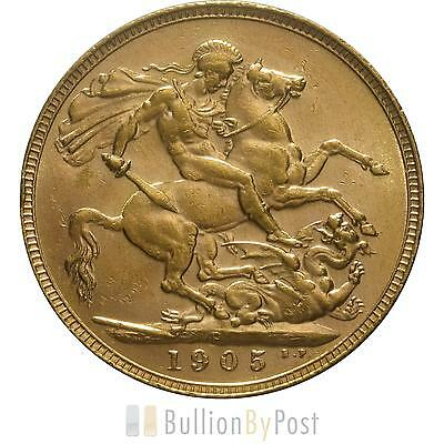 1905 Gold Sovereign - King Edward VII - P