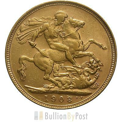 1908 Gold Sovereign - King Edward VII - S