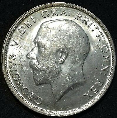 1915 Half Crown. Almost Full Lustre. George V British Silver Coins.