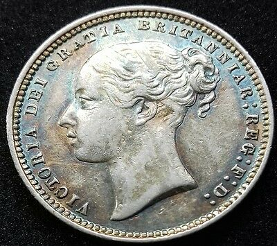 1878 Shilling. Die No 7. Victoria British Silver Coins. The Most Amazing Tones.