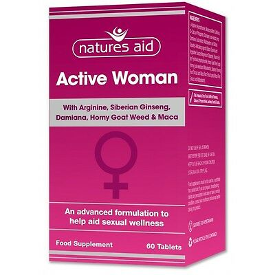 Natures Aid Active Woman - Enhance Sexual Function - 60 Tablets FREE P&P