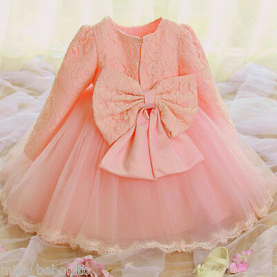 Delilah Baby Flower Girl Formal Dress Birthday Gift Party Gown Bridesmaid Lace